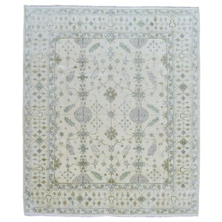 FineRugCollection Oushak Beige Wool Handmade Area Rug (8'2 x 9'9)