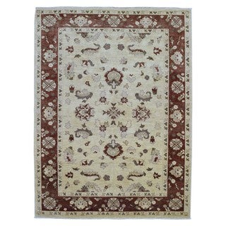 FineRugCollection Multicolored Wool Handmade Peshawar Rug (7'10 x 10'2)