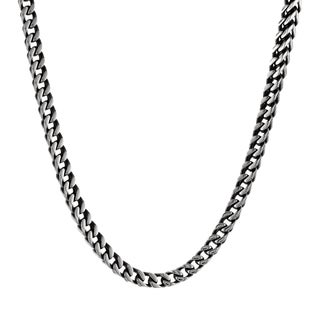 """Stainless Steel Men's Foxtail Chain Necklace, 22"""""""