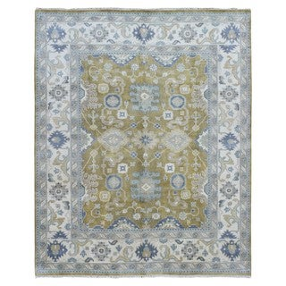 FineRugCollection Oushak Green Wool Handmade Rug (8'3 x 10')