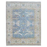 FineRugCollection Oushak Beige/ Blue Wool Handmade Rug (8' x 9'10)