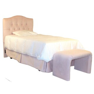Tufted Twin Headboard in Rose Microfiber