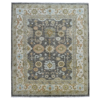 FineRugCollection Oushak Brown/Beige Wool Handmade Rug (8'4 x 9'10)
