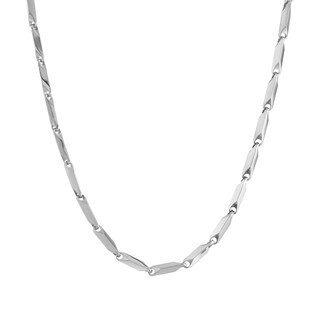 """Stainless Steel Link Chain Necklace, 24"""""""