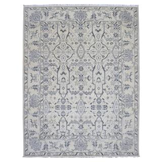 FineRugCollection Grey Wool Handmade Oushak Turkish Knot Rug (9' x 11'10)