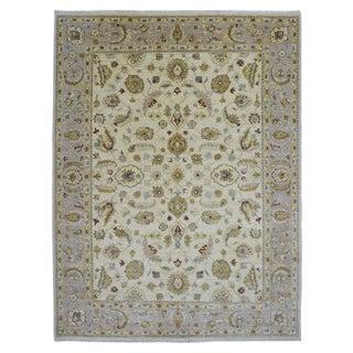 Fine Rug Collection Handmade Pehawar Beige Wool Rug (9' x 12')