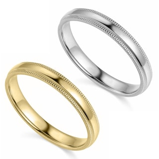 Link to 14k Yellow or White Gold 3 mm Polished Milgrain Comfort Fit Wedding Band Similar Items in Rings