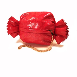 Pink Haley Faux-leather Candy Wrapper Clutch Handbag