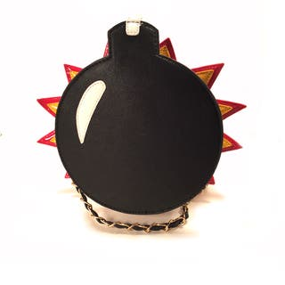 Pink Haley Bomb Inspired Black Faux Leather Clutch Handbag|https://ak1.ostkcdn.com/images/products/13455141/P20144320.jpg?impolicy=medium