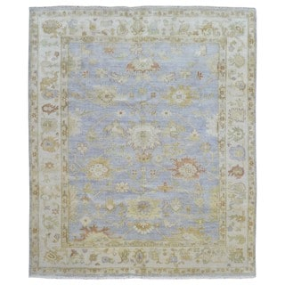 FineRugCollection Handmade Oushak Beige/Blue Wool Rug (8'1 x 9'7)