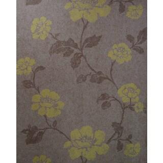 Brewster Lieto Brown Floral Trail Wallpaper