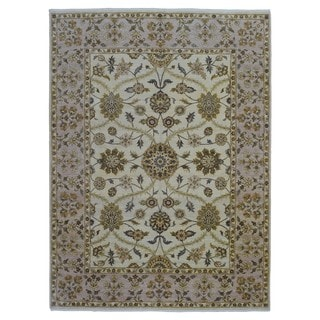 Fine Rug Collection Beige/ Grey Wool Handmade Peshawar Rug (9' x 12')