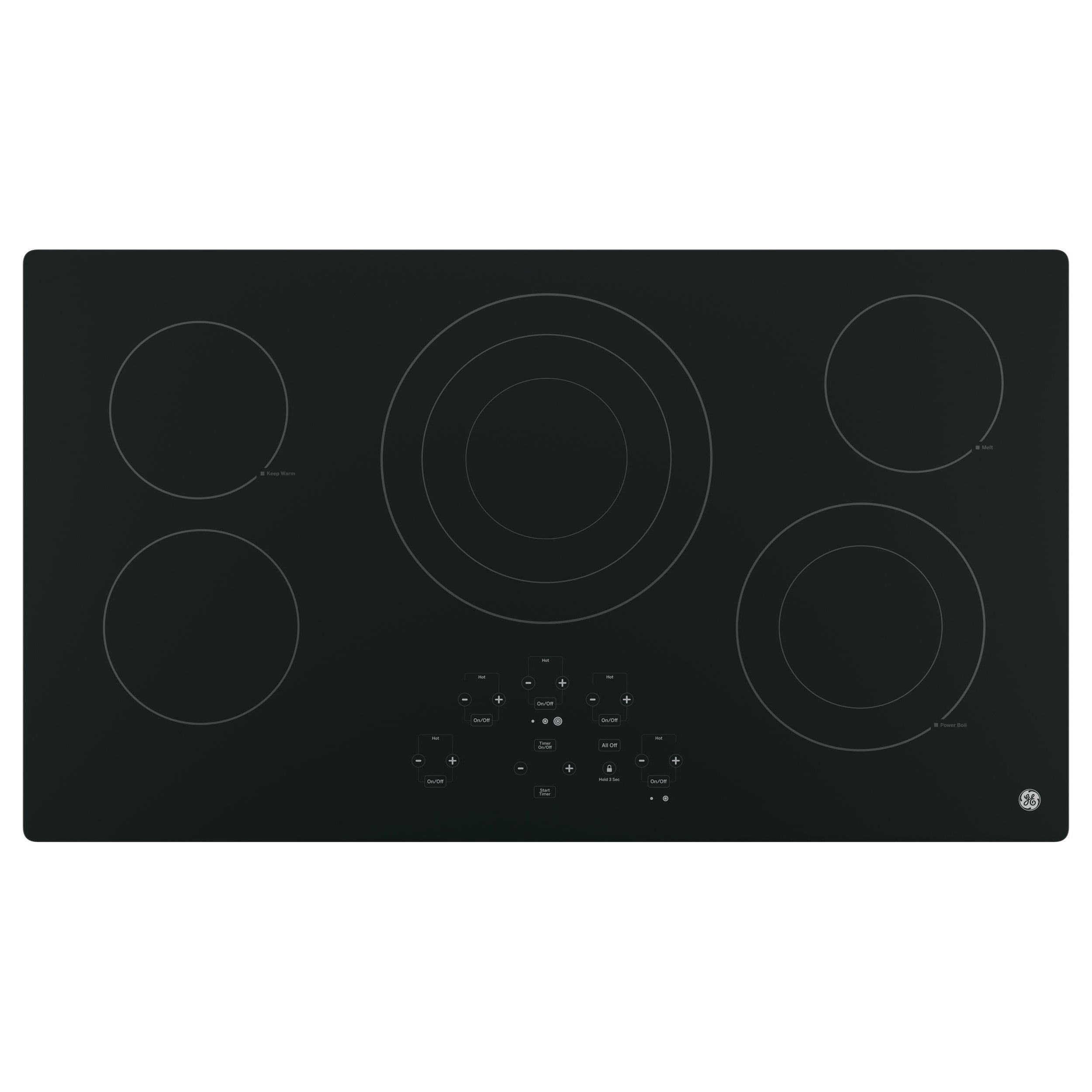 GE 36-inch Built-in Touch Control Electric Cooktop (black...