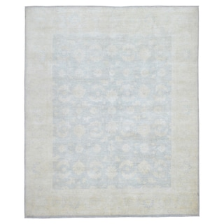 FineRugCollection Grey Peshawar Wool Hand-knotted Area Rug (8' x 9'7)
