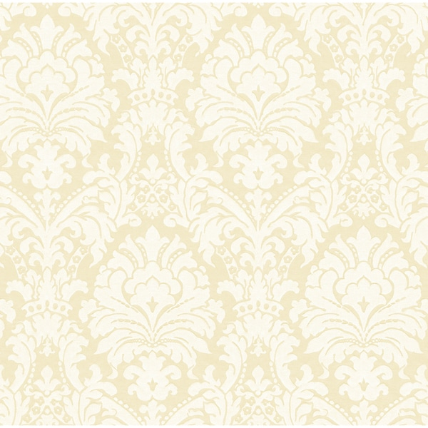 Shop Brewster Beige Simple Damask Wallpaper Free