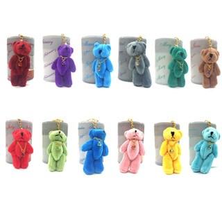 Plush Stuffed Teddy Bear Keychain with Birthstone (Pack of 12)