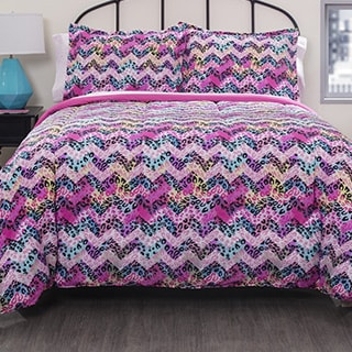 Pop Shop Cheetah Chevron 7-piece Bed in a Bag with Sheet Set