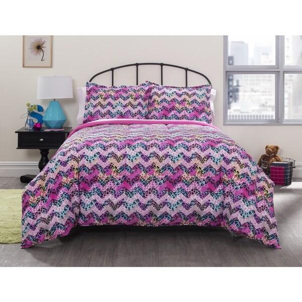 Pop Shop Cheetah Chevron 7-piece Bed in a Bag with Sheet Set