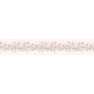 Brewster Lavender Vinyl Floral Border