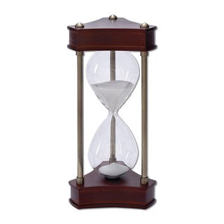Wood, Metal, Brass Sand Timer Hourglass