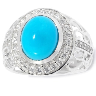 Sterling Silver Sleeping Beauty Turquoise and Gemstone Ring