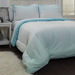 Pop Shop Ombre Cool 7-piece Bed In A Bag with Sheet Set