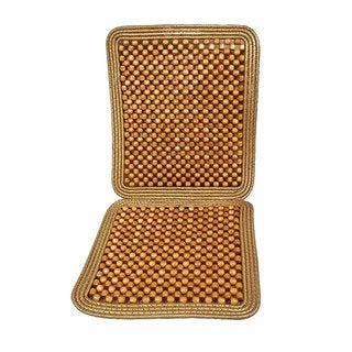Zone Tech Brown Wood Beaded Seat Cushion
