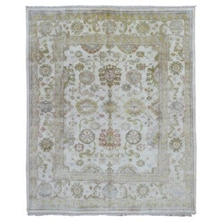"""FineRugCollection Oushak Beige Wool Hand-knotted Rug (8' x 9'9) - 8' x 9'9"""""""