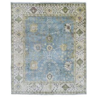 FineRugCollection Oushak Blue Wool Oriental Handmade Rug (7'11 x 9'8)
