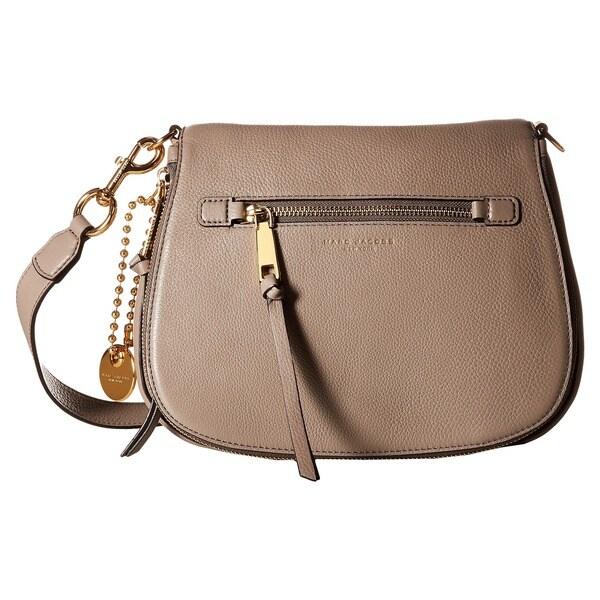 57a51202b745 Shop Marc Jacobs Women s Recruit Mink Beige Leather Saddle Handbag ...