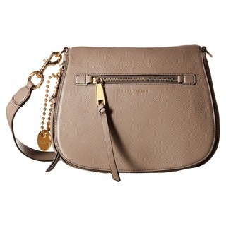 Marc Jacobs Women's Recruit Mink Beige Leather Saddle Handbag