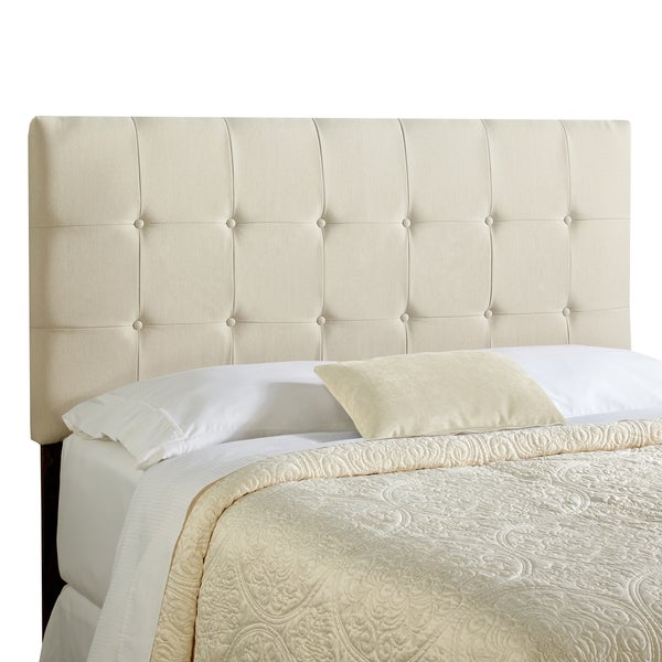 Humble + Haute Stratton Full Size Ivory Tufted Upholstered Headboard
