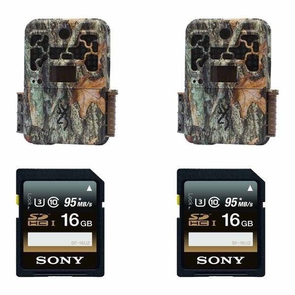 (2) Browning RECON FORCE FHD PLATINUM BTC7FHDP Trail Game Camera (10MP) w/ Sony 16GB Memory Cards