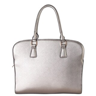 Diophy Women's Dual Compartment Faux Leather Tote Handbag