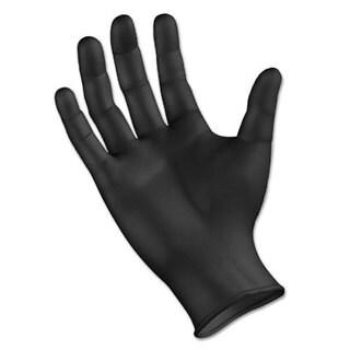 Boardwalk Disposable General Purpose Powder-Free Nitrile Gloves, L, Black, 4.4mil, 1000/Ct