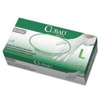 Curad 3G Synthetic Vinyl Exam Gloves, Powder-Free, Large, 100/Box