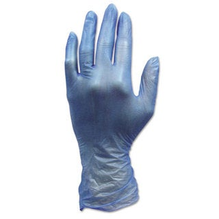 Hospital Specialty Co. ProWorks Disposable Vinyl Gloves, Small, Blue, 1000/Carton