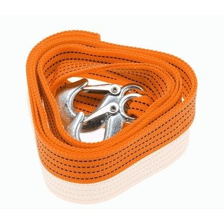 Zone Tech Emergency Heavy Duty 3-Tons Car Tow Cable Towing 6-foot Strap Rope with Hooks