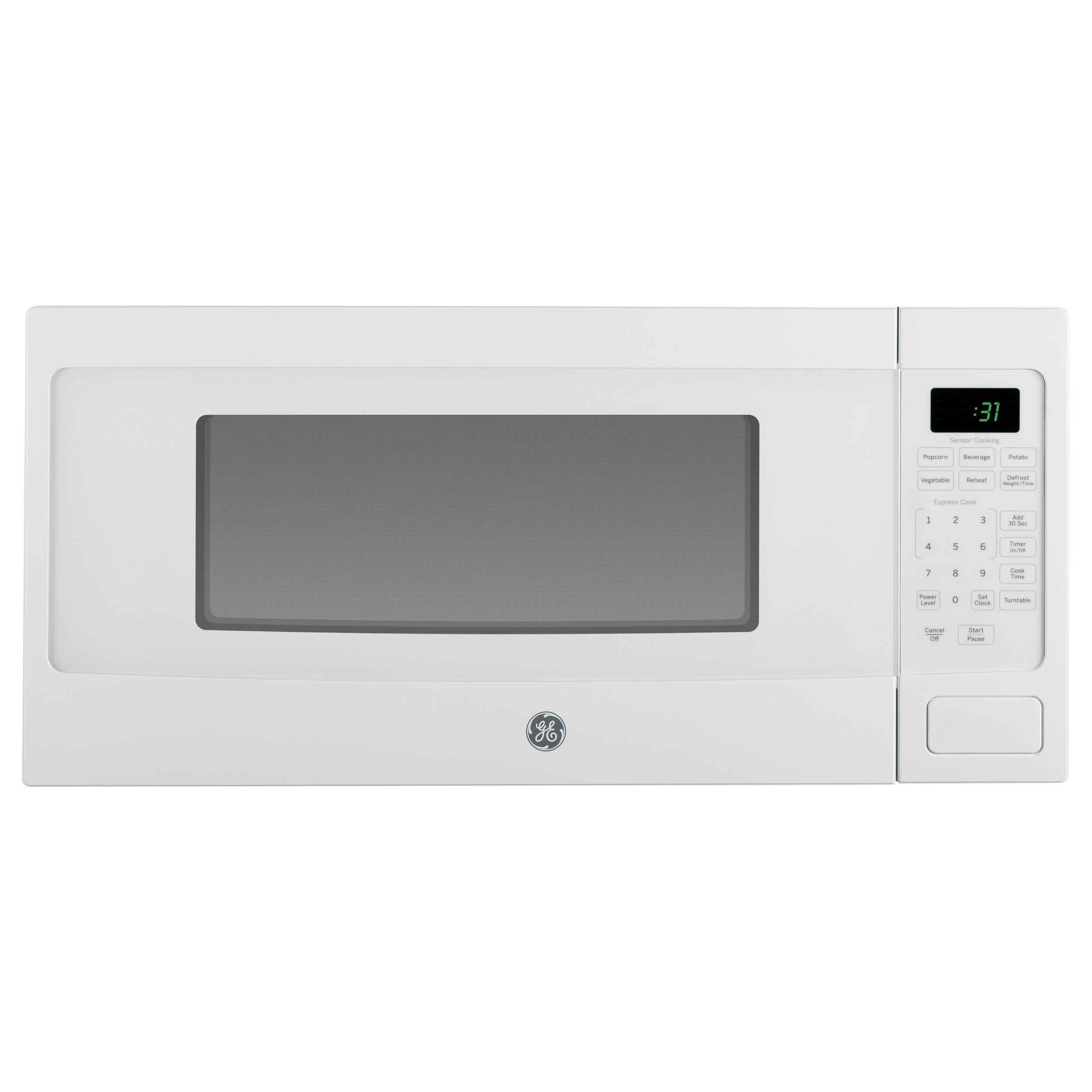 GE Profile Series 1.1-cubic Feet Countertop Microwave Oven white