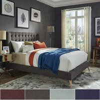 Niels Danish Modern Tufted Fabric Upholstered King Size Bed iNSPIRE Q Modern