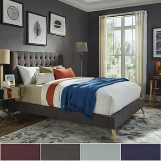 purple bedroom furniture. Niels Danish Modern Tufted Fabric Upholstered King Size Bed iNSPIRE Q Purple Bedroom Furniture For Less  Overstock com