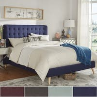 Niels Danish Modern Tufted Fabric Upholstered Queen Size Bed iNSPIRE Q Modern