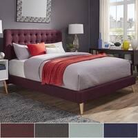 Niels Danish Modern Tufted Fabric Upholstered Full Size Bed iNSPIRE Q Modern