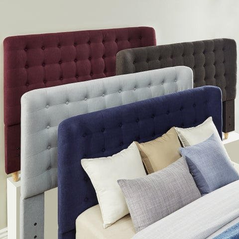 Niels Danish Modern Tufted Fabric Upholstered Queen Size Headboard iNSPIRE Q Modern