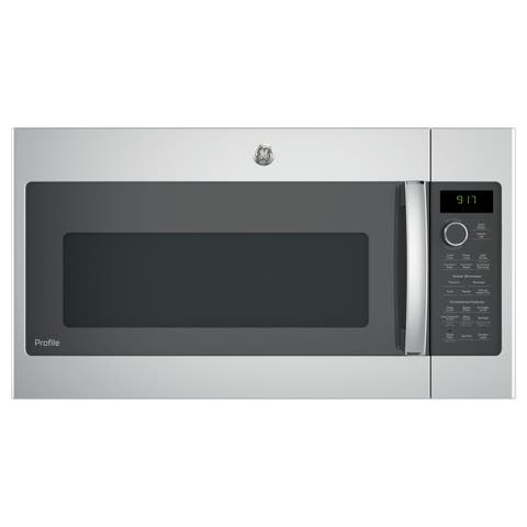GE Profile Series 1.7-cubic Feet Convection Over-the-range Microwave Oven - Stainless Steel