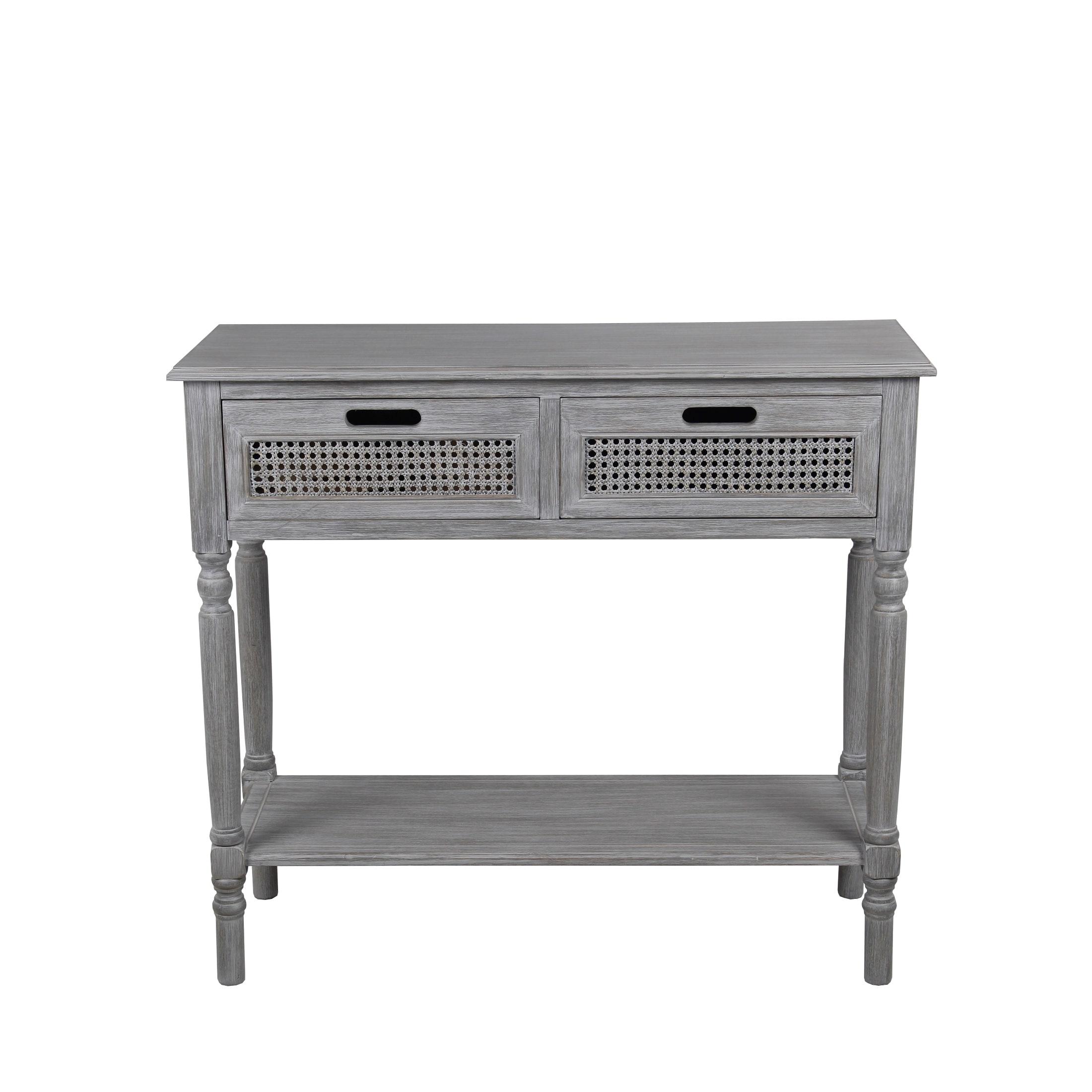Privilege Slate Grey Wood 2-drawer Console Table (Slate G...