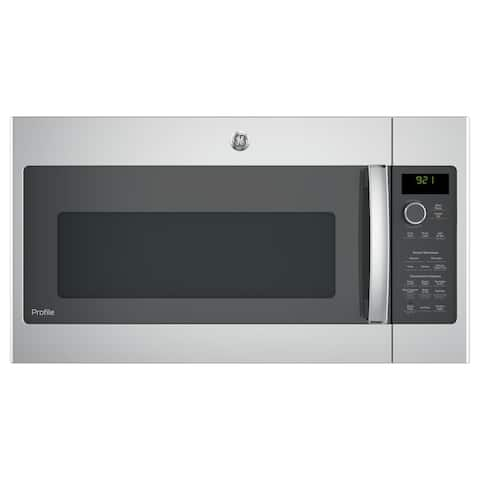 GE Profile Series 2.1-cubic Feet Over-the-range Sensor Microwave Oven - Stainless Steel