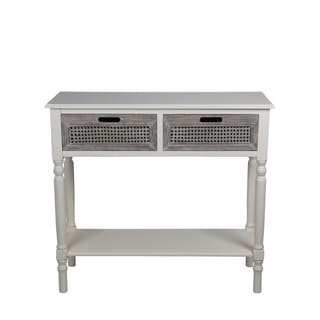 Privilege Off-white Wood 2-drawer Console