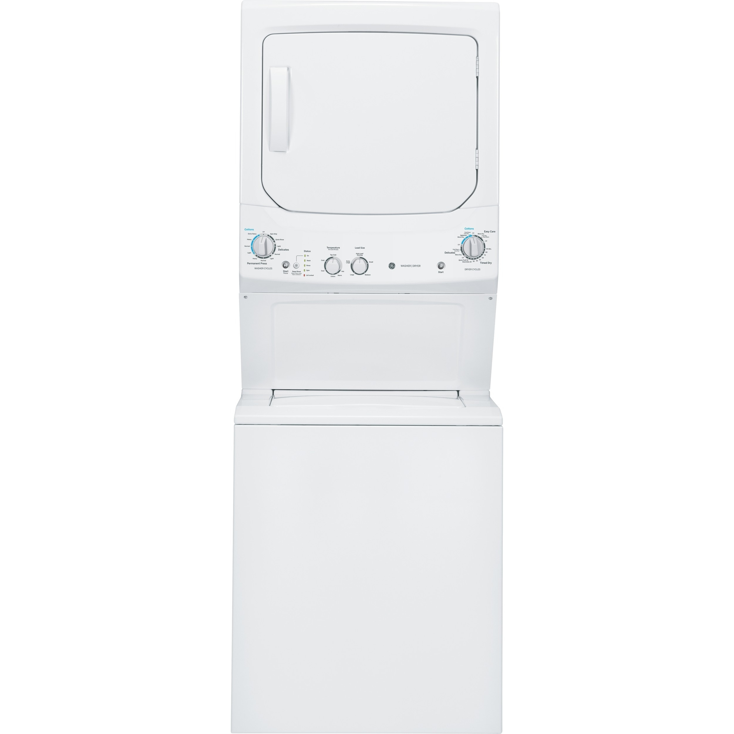 GE Unitized Spacemaker 3.2-cubic Feet Washer and 5.9-cubi...