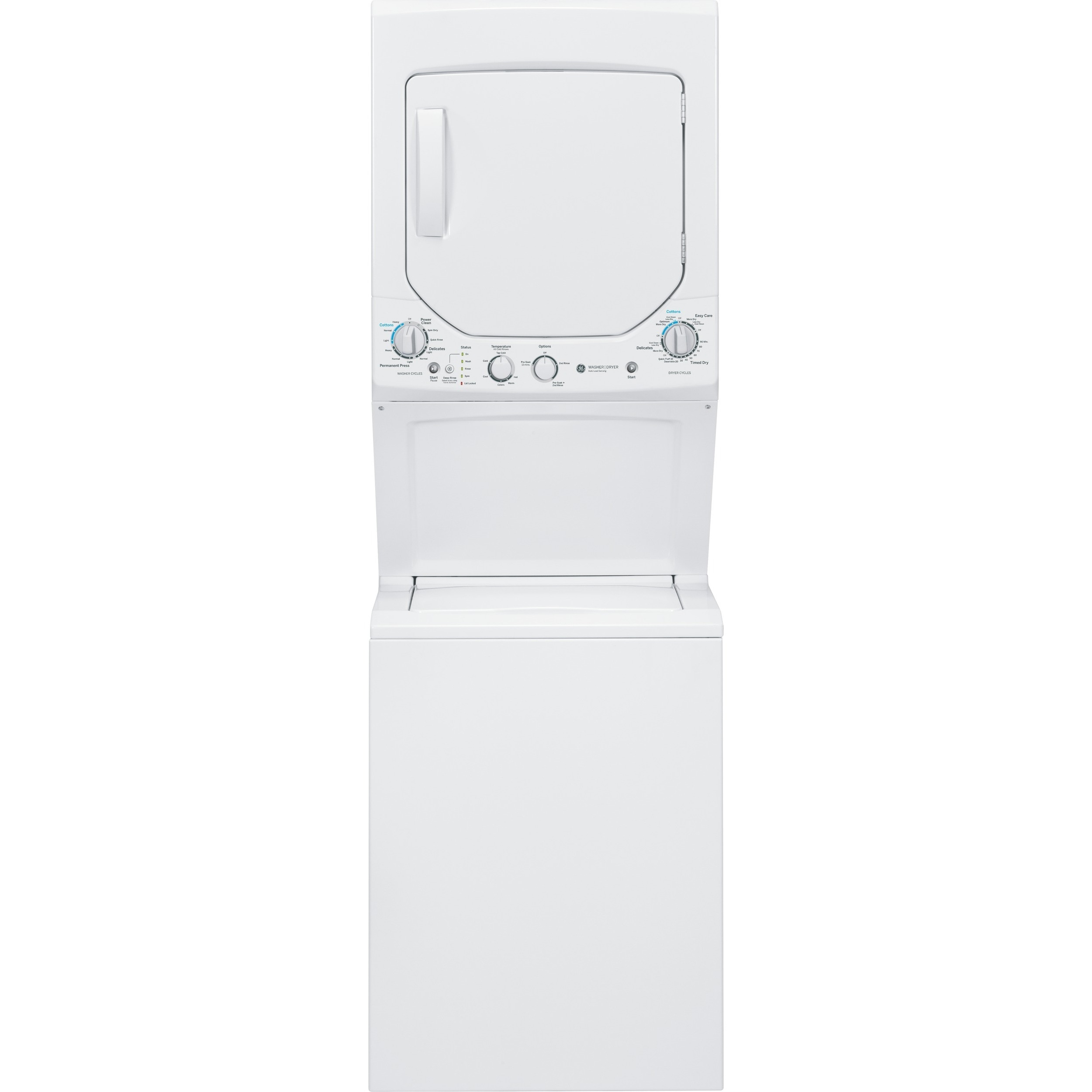 GE Unitized Spacemaker 2.0-cubic Feet Washer and 4.4-cubi...